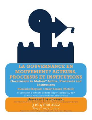 La gouvernance en mouvement? Acteurs, processus et institutions