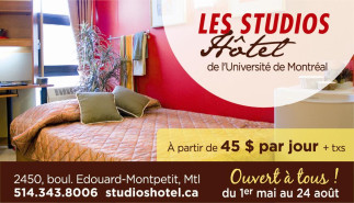 Ouverture des Studios Hôtel