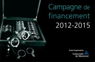 Lancement de la campagne de financement de l'École d'optométrie