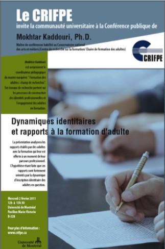 Dynamiques identitaires et rapports à la formation d'adulte