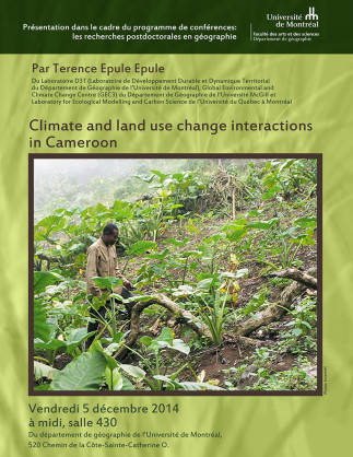 Climate and land use change interactions in Cameroon