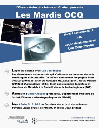 Leçon de cinéma de l'OCQ avec Luc Courchesne