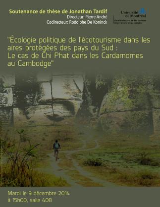 Écologie politique de l'écotourisme dans les aires protégées des pays du Sud : Le cas de Chi Phat dans les Cardamomes au Cambodge