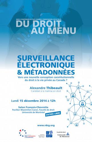 Du droit au menu : Surveillance électronique & métadonnées