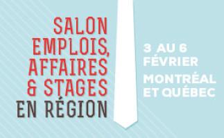 Salon emplois, affaires et stages en région