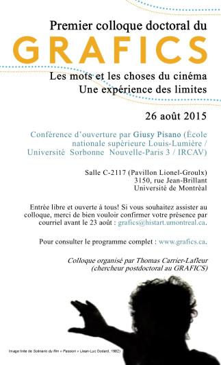 Premier colloque doctoral du GRAFICS