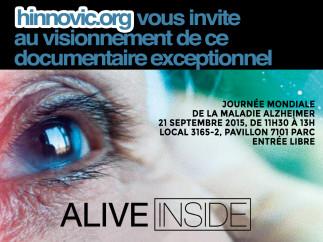 Visionnement du documentaire  « Alive Inside »