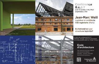 Conférence BEST (bâtiment, écologie, science et technologie) avec Jean-Marc Weill, architecte et ingénieur