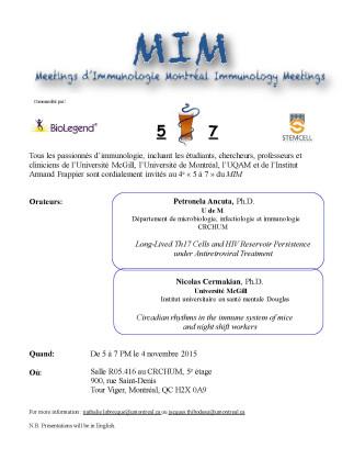 Meetings d'Immunologie Montréal