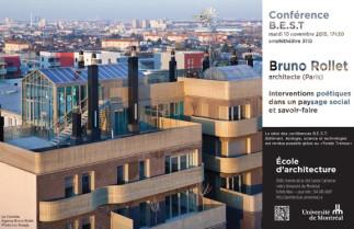 Conférence BEST (bâtiment, écologie, science et technologie) avec Bruno Rollet, architecte