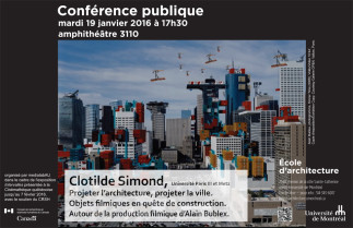 Autour de la production filmique d'Alain Bublex, avec Clotilde Simond