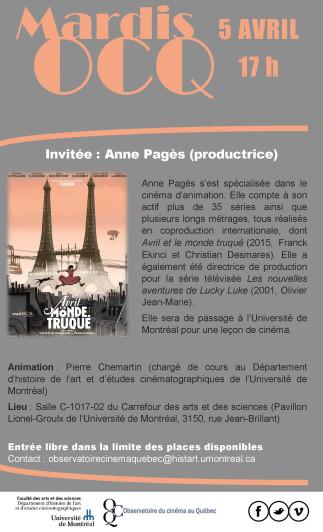 Leçon de cinéma avec Anne Pagès