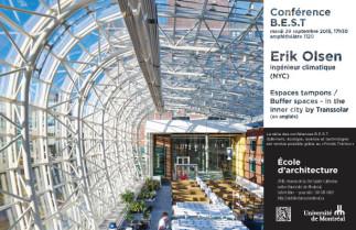 Conférence BEST (bâtiment, écologie, science et technologie) avec Erik Olsen, ingénieur climatique