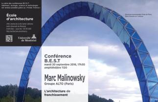 Conférence BEST (bâtiment, écologie, science et technologie) avec Marc Malinowsky, ingénieur Groupe Alto