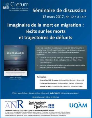 Imaginaire de la mort en migration : récits sur les morts et trajectoires de défunts