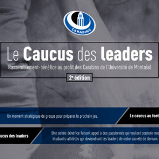Rassemblement-bénéfice «Caucus des leaders» au profit des Carabins de l'UdeM