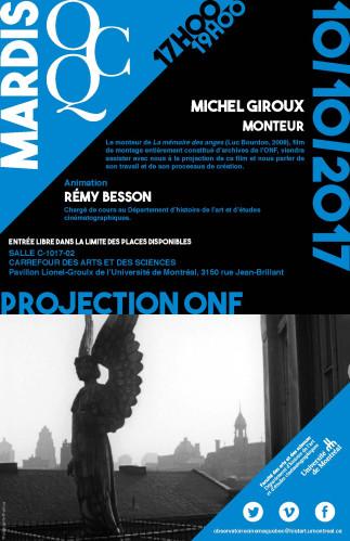 Mardi OCQ : Projection ONF avec Michel Giroux