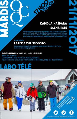Mardi OCQ : Labo Télé avec Kadidja Haïdara