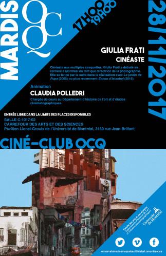 Mardi OCQ : Giulia Frati