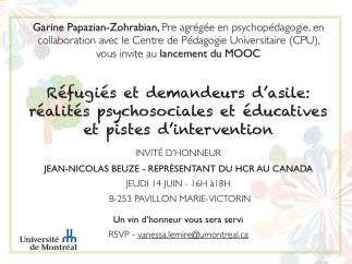 Lancement du MOOC Réfugiés et demandeurs d'asile : réalités psychosociales et éducatives et pistes d'intervention