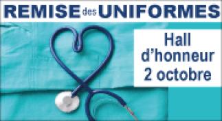 Remise des uniformes aux nouveaux étudiants en sciences infirmières