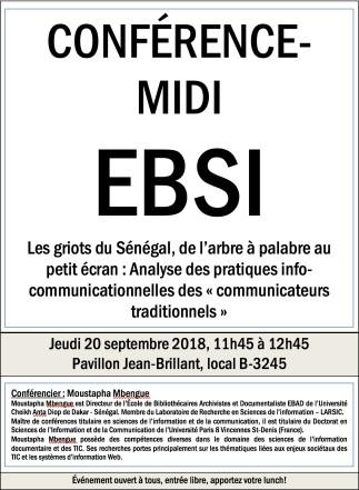 Les griots du Sénégal, de l'arbre à palabre au petit écran : Analyse des pratiques info-communicationnelles des 'communicateurs traditionnels'