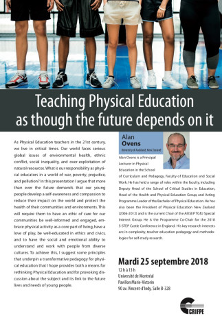 Teaching Physical Education as though the future depends on it