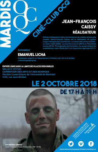 Mardi OCQ : Ciné-Club avec Jean-François Caissy
