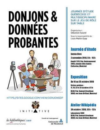 Exposition - «Donjons et Données probantes» à la BLSH