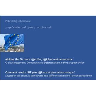 Comment rendre l'UE plus efficace et plus démocratique ?