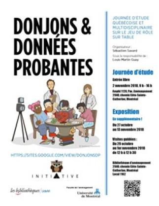 Exposition - «Donjons et Données probantes» à la Bibliothèque d'aménagement