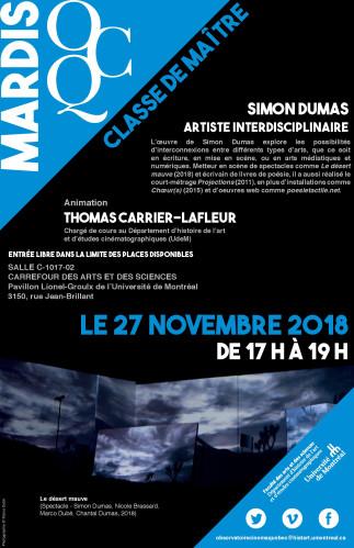 Mardi OCQ : Classe de maître avec Simon Dumas