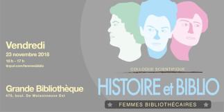 EBSI - Pour une histoire des femmes bibliothécaires au Québec