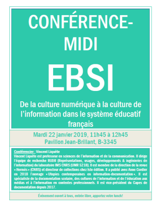 De la culture numérique à la culture de l'information dans le système éducatif français