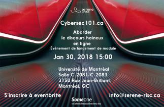 Cybersec101.ca : Aborder le discours haineux en ligne- Lancement de module