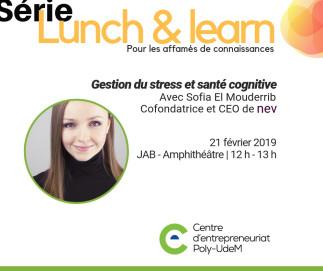 Lunch & learn : Gestion du stress et santé cognitive