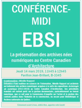 La préservation des archives nées numériques au Centre Canadien d'Architecture