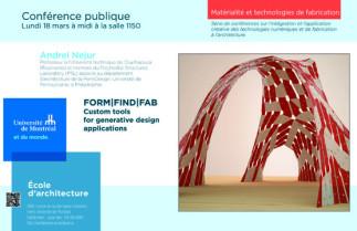 FORM | FIND | FAB, Custom tools for generative design applications