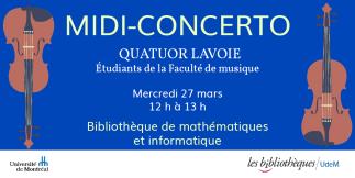 Midi-concerto à la Bibliothèque de mathématiques et informatique