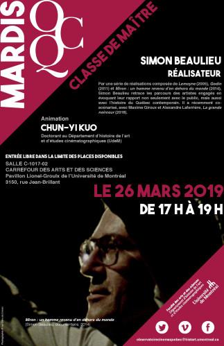 Mardi OCQ : Ciné-Club avec Simon Beaulieu