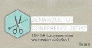 Conférence-débat sur la consommation vestimentaire au Québec
