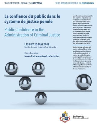 Troisième Biennale en droit pénal / Thirds Biennal Conference on Criminal Law