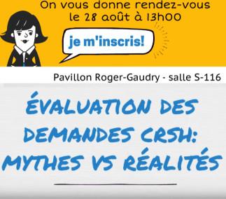 Évaluation des demandes de subventions Savoir CRSH - mythes et réalités. Réponses en direct du CRSH