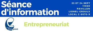 Séance d'information en entrepreneuriat