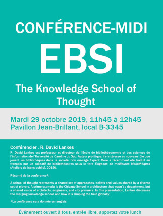 EBSI - Conférence midi : The Knowledge School of Thought