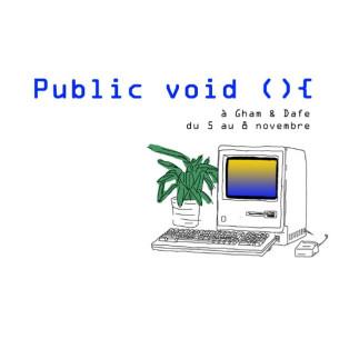 Vernissage de l'exposition Public Void (){