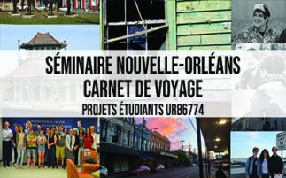 Séminaire Nouvelle-Orléans - carnet de voyage — Exposition à la Bibliothèque d'aménagement
