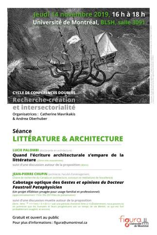 Cycle de conférences doubles - Recherche-création et intersectorialité