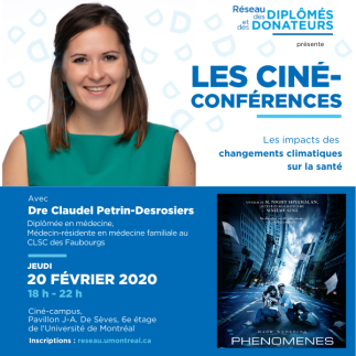 Ciné-conférence avec Dre Claudel Pétrin-Desrosiers