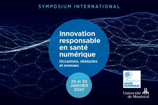 Symposium international : Innovation responsable en santé numérique